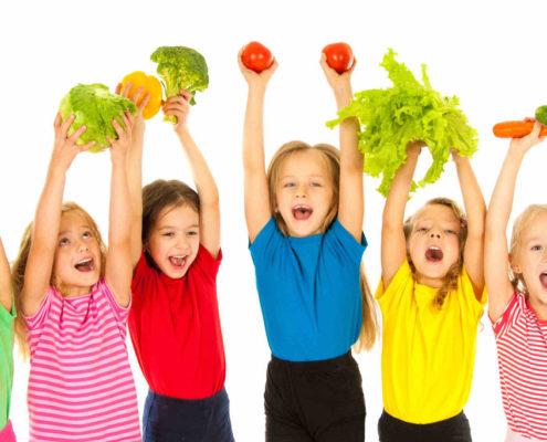 bambini-con-verdure